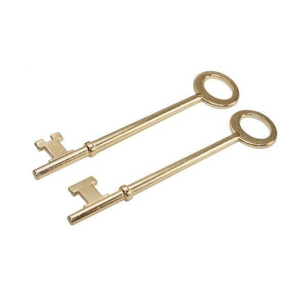 Hillman 701281 Skeleton Keys, Set of 2, Flat and Notch Tips