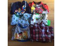 6 pairs of boys long sleeved pyjamas aged 2-3 years