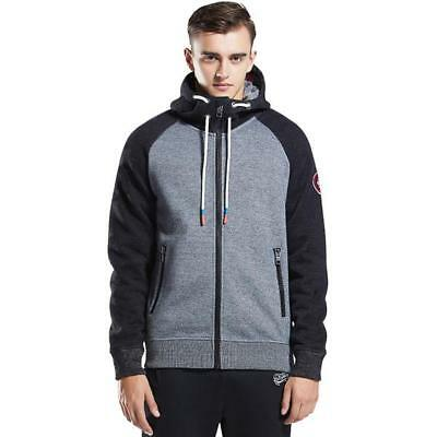 French Terry Hooded Jacket (Mens Hoodie Raglan Sweatshirt Cotton bonded French Terry Hooded Zip-up Jacket )