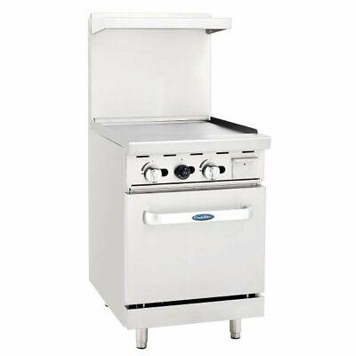 Atosa Usa Ato-24g 24 Gas Restaurant Range 1 Space Saver Oven 1 Griddle