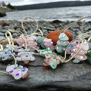 Sea Glass Christmas Ornaments