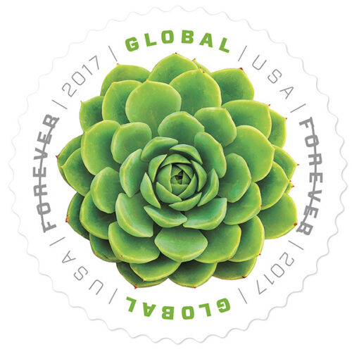 Купить USPS New Global Forever Green Succulent Pane of 10