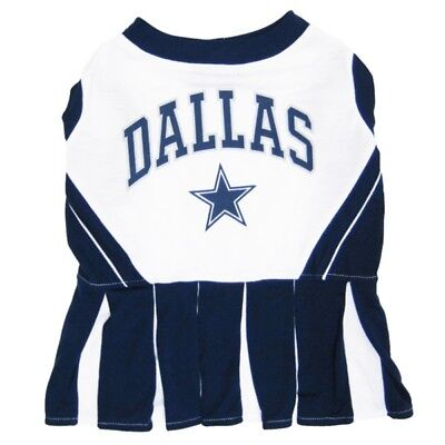 Dallas Cowboys NFL Cheerleader Dog Pet Dress Outfit Sizes XS-M](Dog Cheerleader Outfit)