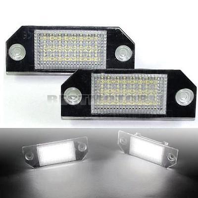 LED NUMBER LICENSE PLATE LIGHTS LAMP WHITE FOR FORD FOCUS C-MAX MK2 ERROR FREE