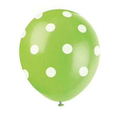 6 x Lime Green Dots 12