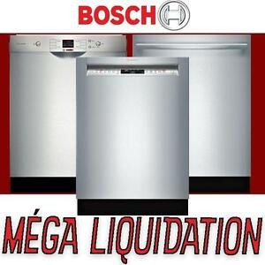 8 modèles LIQUIDATION– Lave-vaisselle Bosch NEUF - stainless