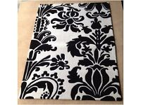 Black and White Silhouette 100% wool rug