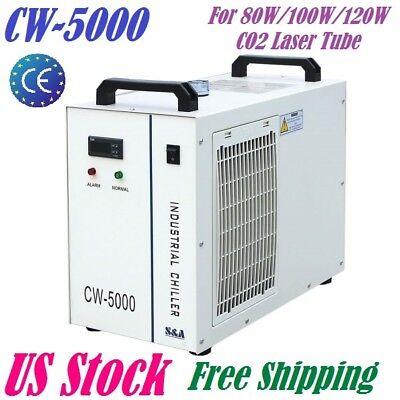Cw-5000dg Industrial Water Chiller For 80w 100w 120w Co2 Laser Tube 110v 60hz