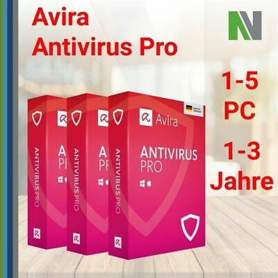 Avira Antivirus Pro 2020 1-5 PC 1-3 Jahre Mac Android