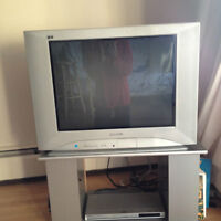 """25"""" TV & TV stand"""