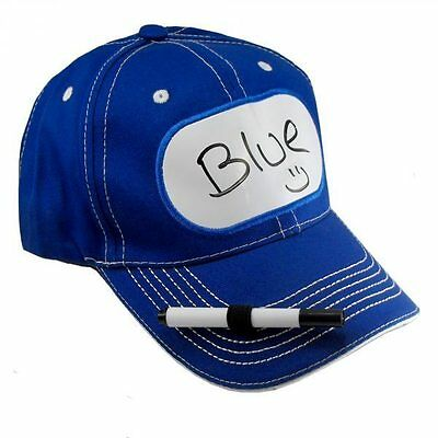 BILLBOARD ADVERTISING DRY ERASE BASEBALL Blue HAT sign message TAG name -