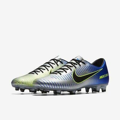 97f9e5b8d42 Nike Mercurial Victory VI 6 Neymar NJR FG sz 7 Blue Silver 921509 407 Soccer
