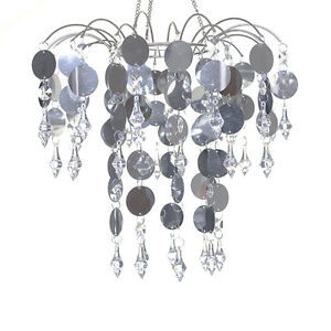 FOR SALE 4 x Silver PVC & Lexus Bead Chandeliers $150 FOR ALL