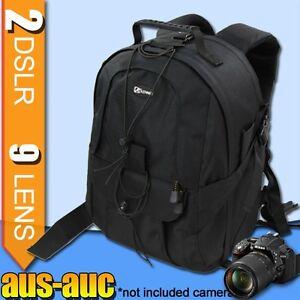 Camera BACKPACK travel BAG for 2x DSLR 7x lens 15