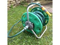 Hoselock garden hose and reel