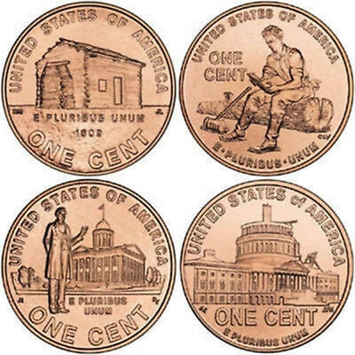Complete Set Lincoln Bicentennial 2009 Cent Penny P & D From Mint Rolls 8 Coins 2009 Lincoln Coin