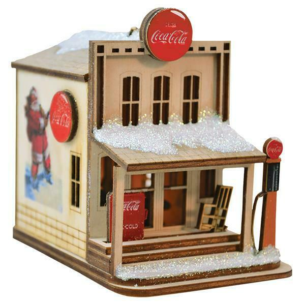 COCA COLA COUNTRY STORE OLD WORLD CHRISTMAS WOODEN COTTAGE ORNAMENT NIB 84004