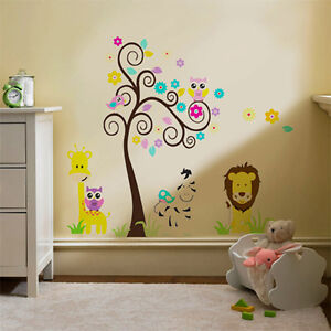 Girafle tree Kids Children Wall Stickers Mural Decal Paper Art Decoration