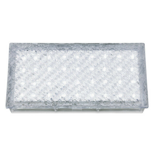 Led Recessed Indoor & Outdoor Walkover Clear Rectangle  - White Led