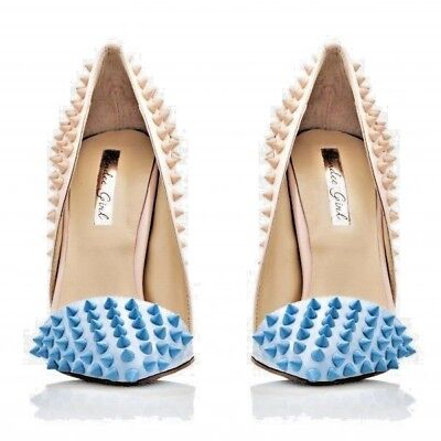 Kandee CL shoes Doll pumps Nude & Sky Blue for sale  Shipping to Ireland