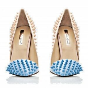 Kandee shoes Doll pumps Nude & Sky Blue Cristian L Look Angela Simmons