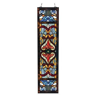 Stained Glass Fleur De Lis Tiffany Style Window Door Panel   LAST ONE THIS PRICE ()