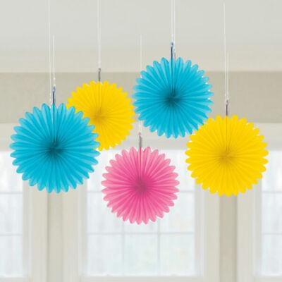 Mini Paper Fans (Multi Colour Mini Paper Fans by)