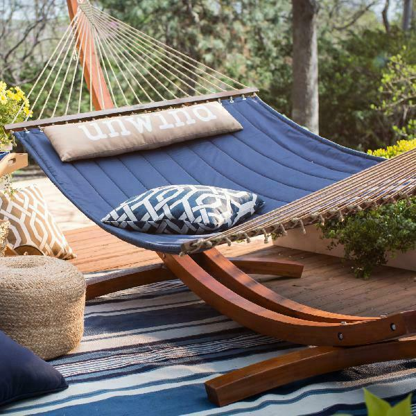 13 ft unwind quilted hammock with russian