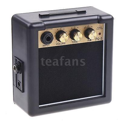 3W Electric Guitar Practice Amplifier Amp Speaker Portable Volume Tone Control