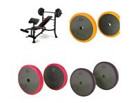 Adidas Multi Purpose Weight Bench - With 110kg cast iron Weights(brand new )