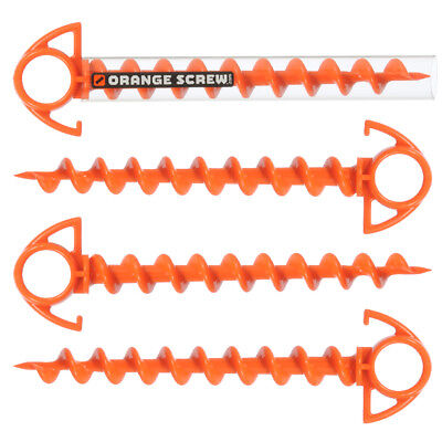 Orange Screw: The Ultimate Ground Anchor, SMALL - 4 Pack