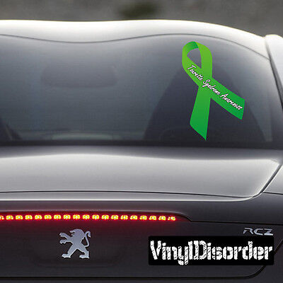 Tourette Syndrome Awareness Ribbon  Vinyl Wall Decal Or Car Sticker