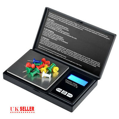 1000g x 0.1g Pocket Scales Digital Portable Milligram Weights Jewelry Gold Gems