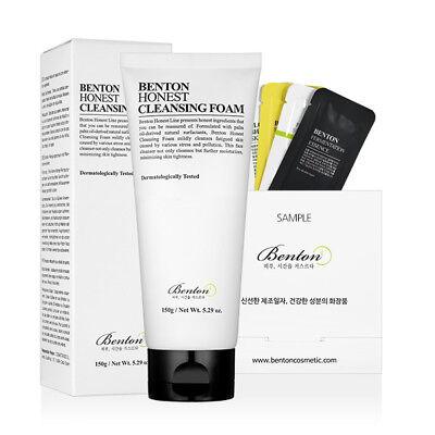 [Benton Cosmetic] Honest Cleansing Foam 150g + Free Sample