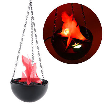 Hanging Flame Light LED Fake Fire Flameless Medieval Cauldron Party Decor - Halloween Fake Fire Cauldron