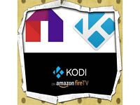 Amazon FireTV stick Firestick with Kodi and Mobdro