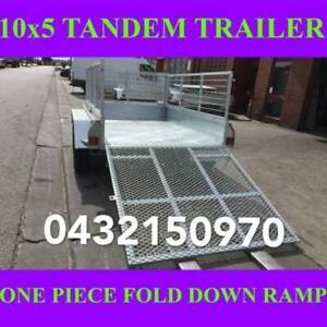 10x5 galvanised tandem box trailer with cage & ramp 70x50 chassis