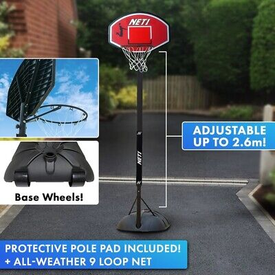 Official NET1 Xplode Youth Kids Portable Basketball Hoop Stand Net Freestanding