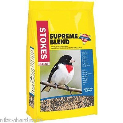 6 Pack Stokes Select 5# Bag Supreme Blend Mixed Seed Bird Seed Food 9264