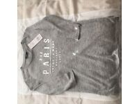 Size 8 ladies grey tshirt - BNWT