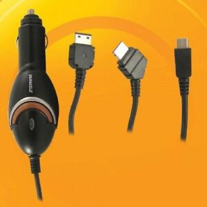 Duracell Cell Phone Car Charger for Samsung Phones - 3 Connector