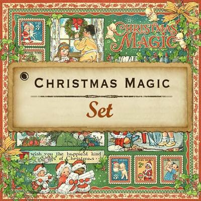 Graphic 45 G45 Christmas Magic 12x12 Paper Pack Vintage Winter Holiday children](Christmas Magic)