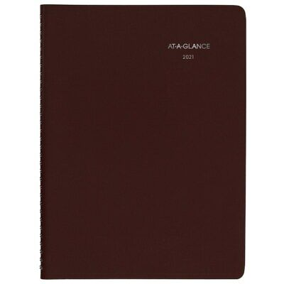 At-a-glance Dayminder Weekly Planner 8 X 11 Burgundy 2021 G5201421