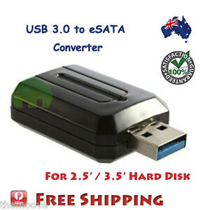 USB 3.0 to eSATA External SATA 3Gbps Adapter Convertor for 2.5