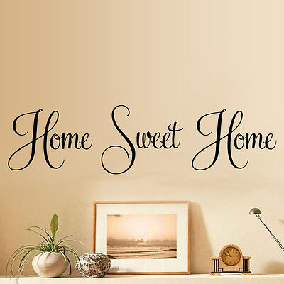 quote stickers vinyl decals transfers art room decor (Home Sweet Home Decor)