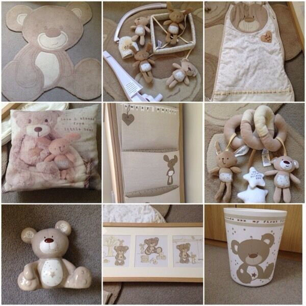 NEXT Teddy bear nursery bundle