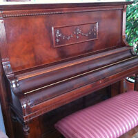 Incredible Bell Upright Piano and Bench