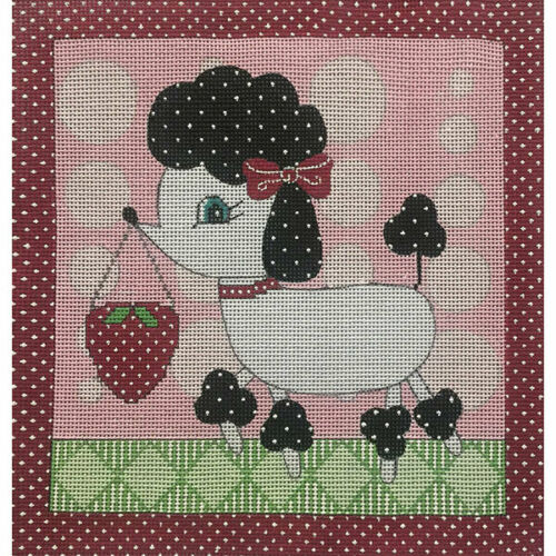 "POODLE TOOTH FAIRY PILLOW 10"" Alice Peterson Handpainted Needlepoint Canvas 2015"