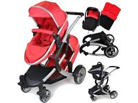 Brand new double buggy (Red) iSafe.