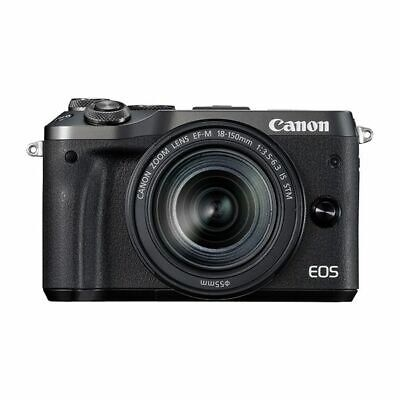 Near Mint! Canon EOS M6 18-150mm IS STM Black - 1 year warranty